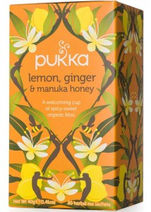Herbata Lemon Ginger & Manuka Honey BIO - Pukka - 20 saszetek